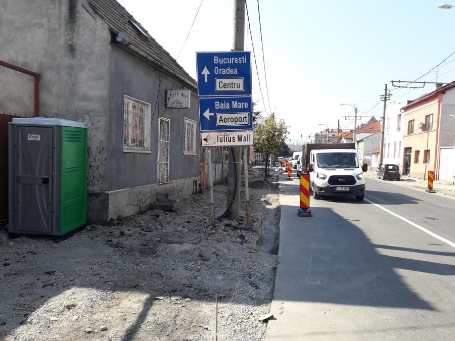 FOTO   Zeci de străzi din Cluj-Napoca au intrat în reparații