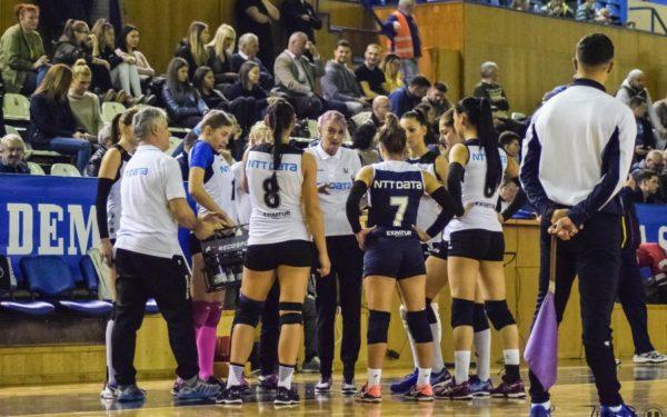 """Voleibalistele de la """"U"""" NTT Data Cluj au pierdut cu 3 la 0 ultimul meci din acest an"""