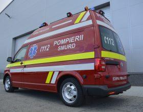 FOTO   Trei noi ambulanțe 4×4 intră în dotarea ISU Cluj. Acestea vor deservi zonele montane din județ
