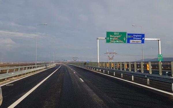 FOTO & VIDEO | Se circulă pe cei 14 noi kilometri ai Autostrăzii Transilvania