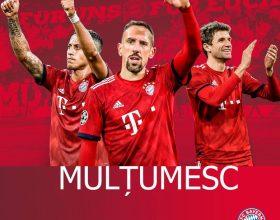 Mesaj de apreciere pentru fanii din România ai echipei Bayern Munchen