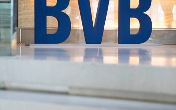 Indicele BET al Bursei de Valori București a scăzut cu 8,6%, la jumătatea zilei