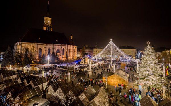 Târgul de Crăciun din Cluj-Napoca, în top zece al celor mai frumoase din Europa