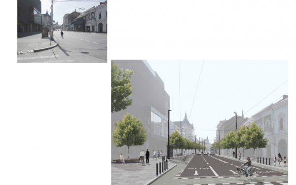 FOTO | Un singur ofertant pentru modernizarea a patru străzi din centrul Clujului. Bandă unică pentru autobuze pe Regele Ferdinand