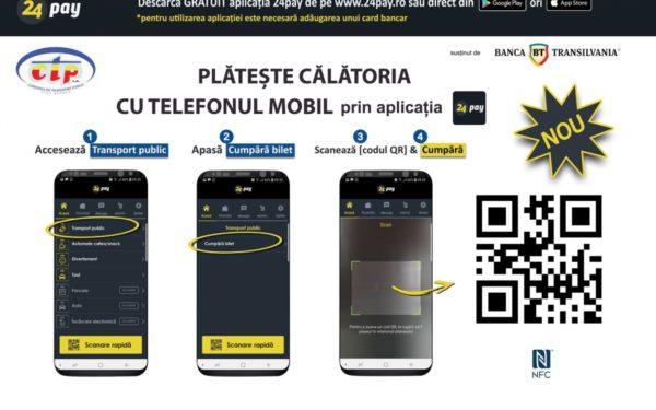 FOTO | Clujenii pot cumpăra bilete și abonamente pentru transportul în comun direct de pe telefonul mobil