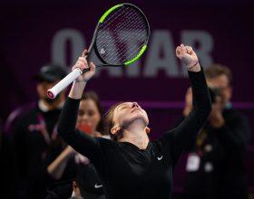 Simona Halep a învins-o pe Lesia Tsurenko și s-a calificat în sferturile de finală ale turneului de la Dubai