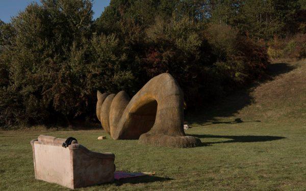 Parcul cu sculpturi din fân din județul Cluj vinde simbolic parcele de un metru pentru banii necesari dezvoltării