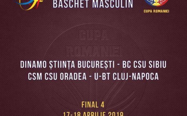 Turneul Final Four al Cupei României la baschet masculin are loc la Cluj-Napoca