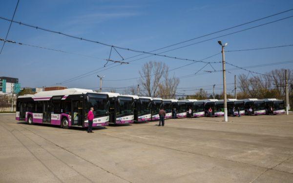 FOTO | O treime din transportul în comun din Cluj-Napoca este electric. Astăzi au fost puse în circulație încă 11 autobuze electrice