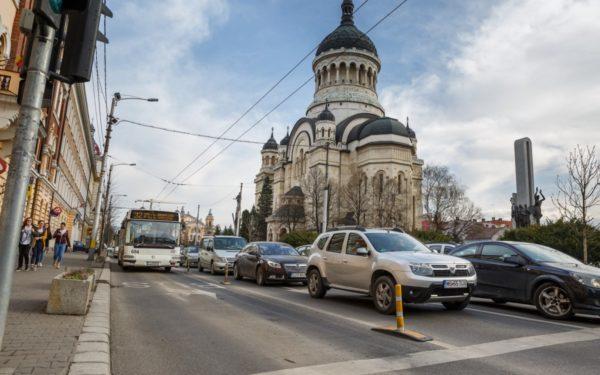 Mâine se pune în funcțiune noua bandă dedicată transportului în comun și bicicliștilor din cartierul Gheorgheni