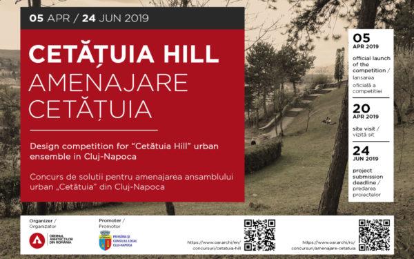 Autoritățile clujene au lansat un concurs internațional de soluții pentru reamenajarea Dealului Cetățuia