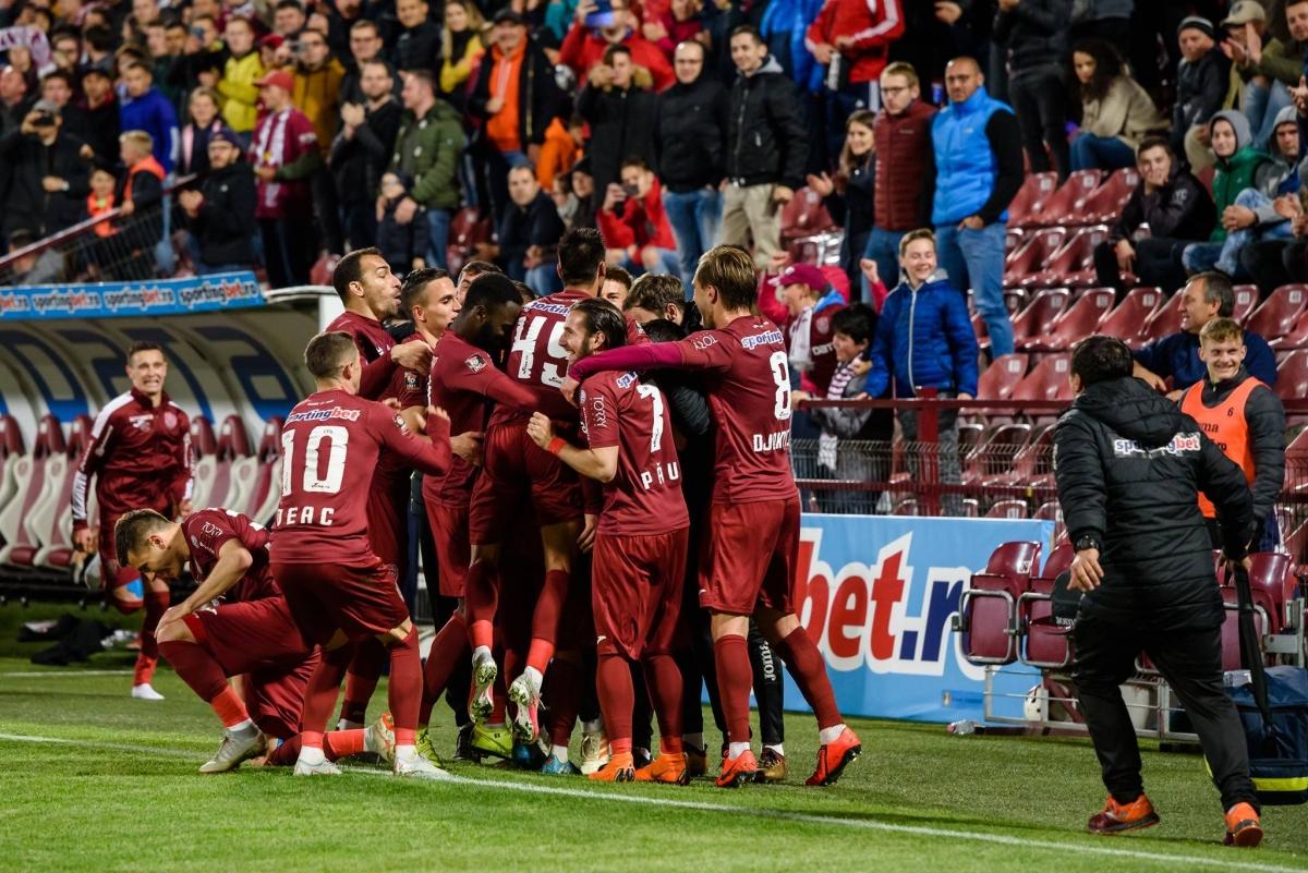 CFR Cluj a încheiat anul pe primul loc în Liga I