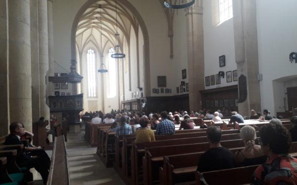 Concertele au priză la public și ziua în amiază mare. Biserica Reformată a fost aproape plină la o astfel de reprezentație