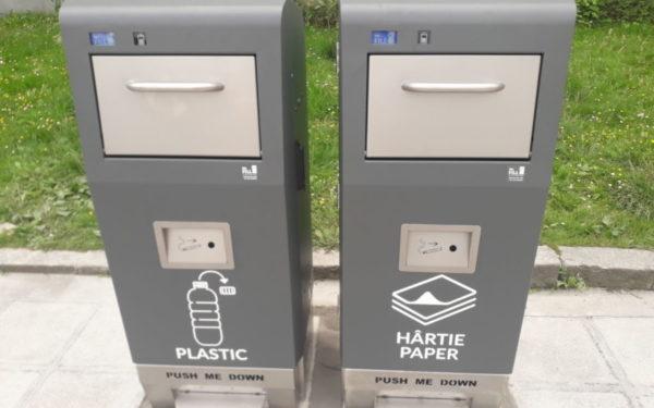 """Proiectul """"pubela inteligentă"""" se extinde la Cluj. Încă 26 de dispozitive vor fi montate în oraș"""