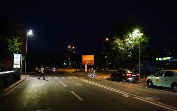 FOTO | Se lucrează la suprailuminarea a 63 de treceri de pietoni din Cluj-Napoca