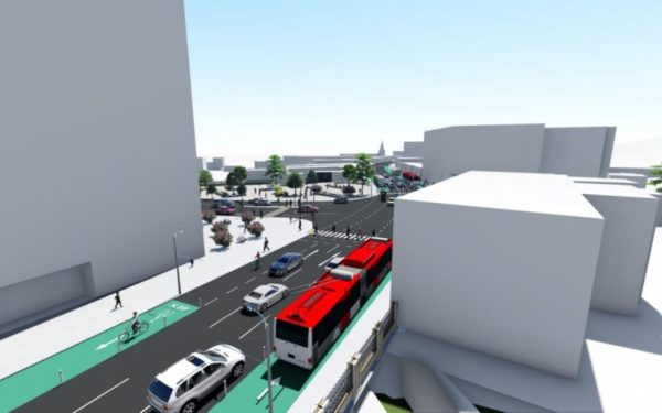 CLUJ | Strada traversată de 6.000 de mașini pe oră ar putea avea doar două benzi pentru autovehicule. Autoritățile vor să descurajeze traficul spre centru