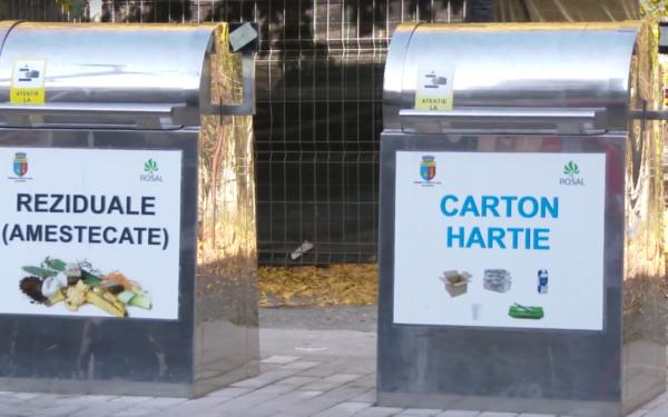 VIDEO | Prima platformă îngropată de colectare a deșeurilor, cu cartelă, a fost dată în folosință în Zorilor