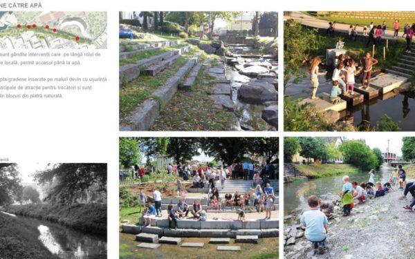 FOTO | Cum va arăta noul spațiu verde amenajat în zona Canalului Morii