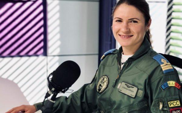 """Interviurile EBS   Romina Mîrza, singura femeie pilot de supersonic: """"Satisfacţia unei misiuni reuşite nu o pot compara cu nimic"""""""