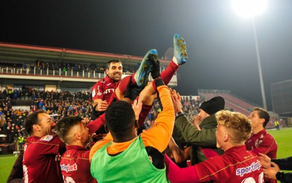 Culio a înscris ultimul gol în Gruia. CFR Cluj a învins Astra și a trecut pe primul loc