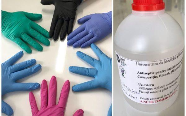 UMF Cluj a produs peste o tonă de dezinfectant