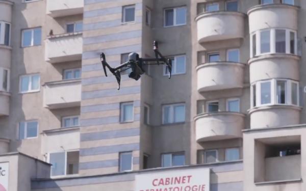VIDEO   Autoritățile din Cluj folosesc drone în lupta pentru prevenirea răspândirii Covid-19