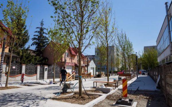 Lucrările la prima stradă smart din România se apropie de final
