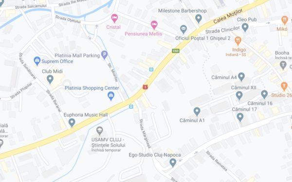 Patru benzi auto, piste de biciclete de câte 2 metri, o piațetă, printre schimbările pregătite pentru intersecția Calea Mănăștur – Calea Moților